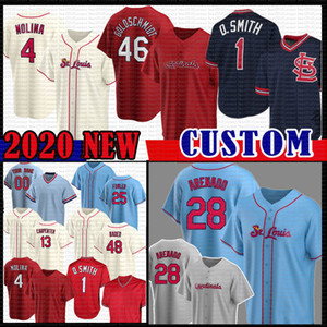 28 Nolan Arenado 46 Paul Goldschmidt Baseball Jersey St. Yadier Molina Louis Matt Carpenter Kardinal Ozzie Smith Harrison Bader Stan Musial