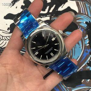 أزياء نمط الفاخرة الرجال العلامة التجارية الساعات 36MM الفولاذ المقاوم للصدأ ووتش رجل تاريخ المجهز مع الحركة الآسيوية الآسيوية عالية الجودة