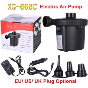 12V Inflatable Electric Mattress Camping Compressor Portable Inflator Air Pump For Home Boat EU US UK Plug