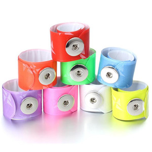 10pcs lot Hot Sale Creative Circle Pvc Snap Jewelry Fit 18mm Snap Button Bracelet For Women Children Fun Gift Diy Button jllqDd