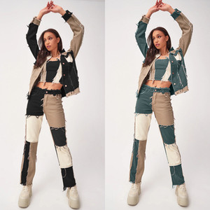 Patchwork düz kadın kot pantolon baggy vintage yüksek bel erkek arkadaşlar anne y2k denim sıkıntılı streetwear 2021 kadın iamhotty
