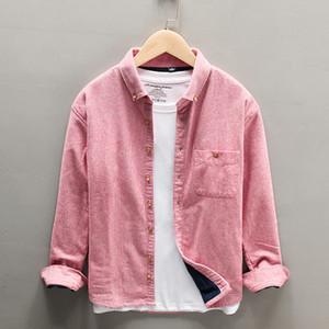 2021 Yeni Kış Kalın Gömlek Erkekler Için Uzun Kollu Flannel Sıcak Çizgili Tutmak Üst Erkek Giysileri Tops GYVL