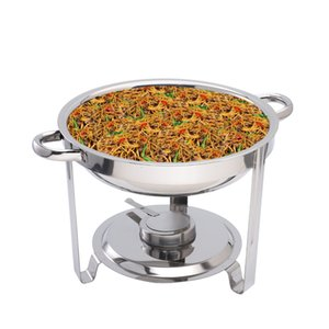 3.5L Round glass cover buffet chafing dish Cookware Sets hotel restaurant home supplies