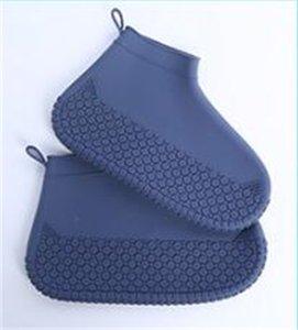 قابلة لإعادة الاستخدام أحذية سيليكون ماء الغلاف للجنسين الأحذية المعطرة غير قابلة للانزلاق الزائد سميكة مقاومة للاهتراء المحمولة مفيدة جودة عالية 125 v2
