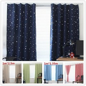 Blinds Stars Blackout Curtains For The Bedroom Living Room Kids Window Curtain Darkening Drapes Home Decor