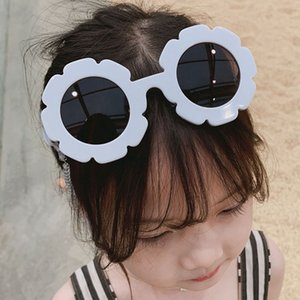 New Boy Girl Children Sunflower Sunglasses Dazzling Round Frame Cute Flower Petal Sunglasses Polarised Fashion LLA356