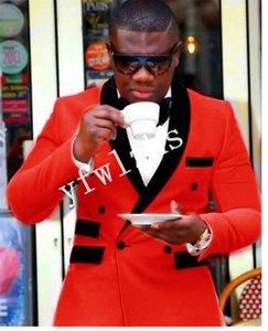 Handsome Shawl Lapel Groomsmen Velveteen Groom Tuxedos Man's Suits Wedding Prom Dinner Man Blazer(Jacket+Pants+Tie) K616