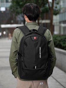 Рюкзак мужская большая емкость повседневная деловая поездка рюкзак женские компьютерные сумка младшая средняя школа студент школа мужской студент колледжа