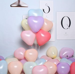 Macaron Color Balloon Thickened Heart-Shaped Balloons Multi-Color Optional Balloon Birthday Party Wedding Decoration 1Bag 100pcs FWE4778