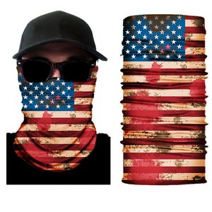 50 piece  lot USA flag pattern bandanas various patterns Tubular Bandanas American polyester flag shields mask Bandanas