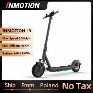 EU 주식 원래 Inmotion SCV L9 스마트 전기 스쿠터 접이식 킥스 스케이터 1000W 95km 범위 듀얼 브레이크 스케이트 보드 앱
