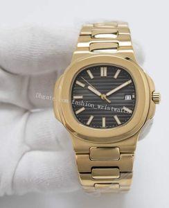 Orijinal Kutu Erkek Saatler 40mm 5711 Asya 2813 Otomatik Şeffaf Gümüş Gül Altın Çelik Bilezik Mekanik Saatler