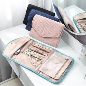 Jewelry Storage Bags Foldable Tiled Envelope jewelry Storage Bag Make Up Bag Handbags Portable Travel Storage Bags sea shipping
