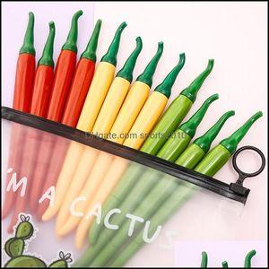 Gel Writing Supplies Business & Industrialgel Pens 12 100Pcs Funny Cute Pepper Pen Kawaii Stationery Store Back To School Supply Kawai Stati
