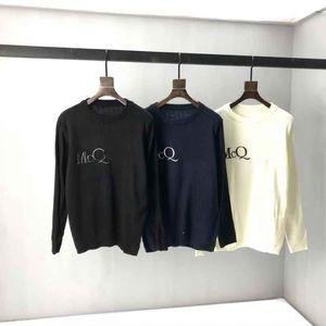 Nuovo Aop Jacquard Lettera Maglione lavorato a maglia in autunno / inverno 2020Acqua Macchina per maglieria E CUSTOM JNLARGED Dettaglio Crew Neck Cotton H752