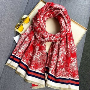 New animal cartoon warm scarf in autumn winter women's double-sided air conditioning shawl with cashmere like and thickened neck J52B
