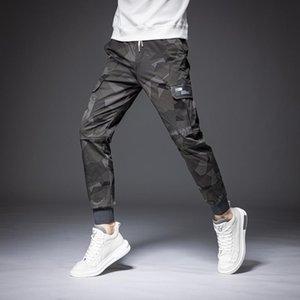 Мужские брюки мужские 2021 камуфляжные грузы Slim Streetwear мода для мужского повседневного пробега длинные брюки большого размера высокое качество