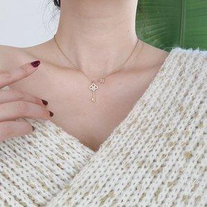Neue Ankunft Key Lock Form Halskette Anhänger Edelstahl Hohe Qualität Anhänger Halskette Titanium Stahl Schmuck Für Frauen Geschenk