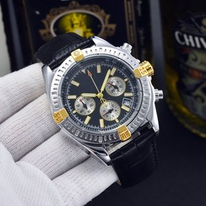 Men Fashion Wristwatches Luxury Watch Leather NAVITIMER 1884 Sports diving Chronograph 42mm automatic