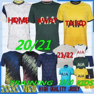 Thai 21/22 Qualità Tottenham Kane Soccer Jersey Lamela Bergwijn Ndombele Dele Son 20/21 Jersey Camicie da uomo Kit bambini Kit Set Uniformi