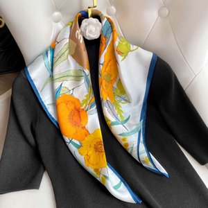 Spring Autumn New Literature and art silk women's large square fashion elegant small scarf Shawl