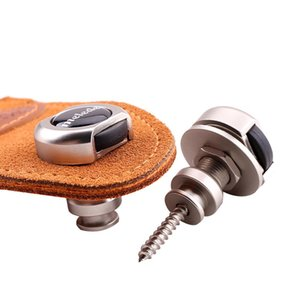 2pcs Guitar Strap Buckle Lock Button Non-Slip Electric Zinc Alloy Nail