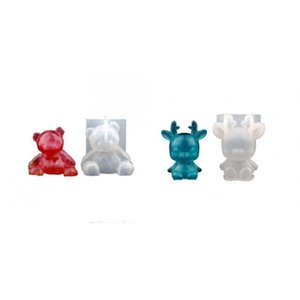 Transparent Mould DIY Epoxy Resin Silicone Crystal Bear Various Elk Fashion Accesories Woman Man Molds Room Christmas 4 2fs K2
