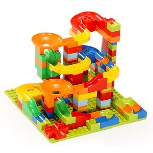 165 pces marble running block large size building blocks plastic funnel diy slide assembly bricks educational toys for kids