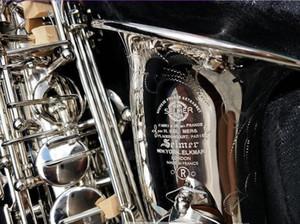 New Mark VI Классическая модель Alto EB Tune Saxophone Никель покрытием E плоский Sax с корпусом мундштук профессиональный бесплатная доставка