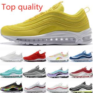 Nike Air Max 97 الكلاسيكية لعبة رويال chaussures رجل تشغيل أحذية النساء الأحذية في الهواء الطلق لديها اليوم الثلاثي الأسود الأحمر ليوبارد ساوث بيتش المدربين الأصفر حجم 36-45