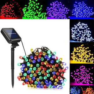7 12 22m 50 100 200 LEDS Solar Lamps LED String Lights Outdoor Waterproof Fairy Holiday Christmas Party Solar Lawn Garden Lights