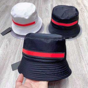 Sombrero blanco del cubo blanco para los hombres de las mujeres cubetas de moda de la moda de la playa Playa de los deportes Papá Pescador Panallytail Baseball Gorras gorras Snapback Casquette Chapeaux