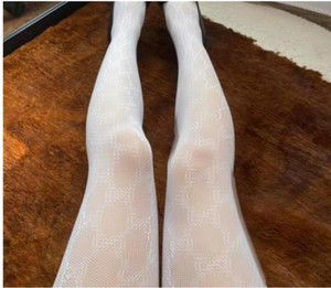 20Sexy Long Stockings Tights Women Fashion black and white Thin Lace Mesh Tights Soft Breathable Hollow Letter Tight Panty hose High quality