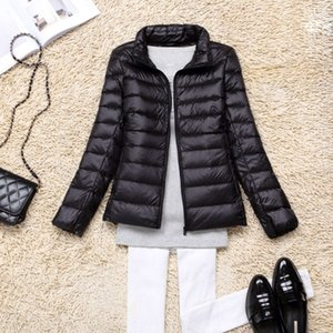 the New Woman 's Thin Short Down Jacket Long Sleeves Slim Sell Like Hot Cakes