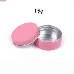 15g Pink Glitter Eyeshadow Makeup Face Cream Containers DIY Lip Balm Pills Party Favors Candies Mints Vitamins Metal Jars 50pcshigh qualtity