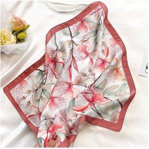 Scarf Silk Satin Bandana Women Summer Square Small Bag Wrap Bohemian Retro Ladies Scarves