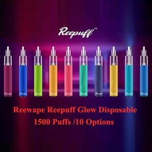 새로운 도착 Reewape Reepuff Glow 일회용 장치 키트 1500 퍼프 충전식 650mAh 배터리 5ml 포드 vape 스틱 펜 100 % 정통