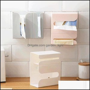 Tissue Table Decoration Aessories Kitchen, Dining Bar Home Gardentissue Boxes & Napkins Wall Mounted Napkin Paper Towel Trash Bag Dispenser