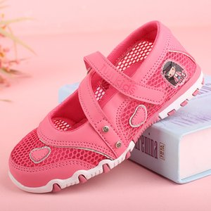 Summer Girl Mesh Shoes Child Breathable Casual Girls Princess Shoes Kids Anti Slip Peas Shoes Children Hollow Tenis Infantil C0308