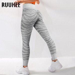 Ruuhee Yoga Hosen Sportkleidung Feste Hohe Taille Ganzkörperansicht Training Leggings Für Fittness Yoga Leggings