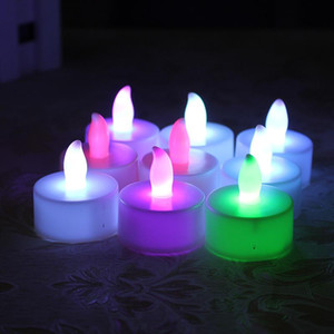 LED Candle Tea Light Flameless Tealight Colorful Flame Flashing Candle Lamp Wedding Birthday Party Christmas Light Decoration DBC VT1721