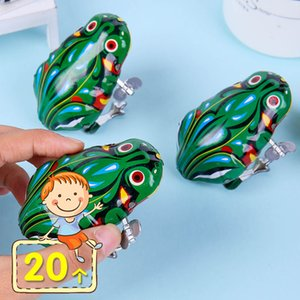 Toy Little Frog Bouncing Iron Frog Childrens Day Spring up Chain Leap Frog Small Animal Bouncing 80 S Nostalgic