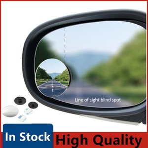 Car Mirror Convex Mirror Blind Spot Auto Rearview Mirror 360 Degree Wide Angle Vehicle Parking Rimless Mirrors Car Accessories