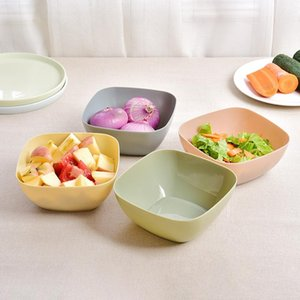 Wholesale Food Grade Plastic Square Fruit Plate Salad Bowl Melon Fruit Plate Small Snack Candy Dish Dried Fruit Bow LLS373