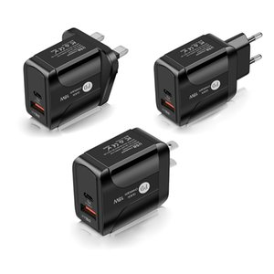OEM PD 18W QC3.0 전화 빠른 충전기 5V 3A 전원 어댑터 UN UK 2COLORS BLACK WHITE TRAVE FAST CHARGERS