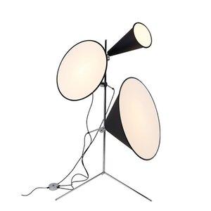 현대 알루미늄 경적 LED 가벼운 바닥 램프 블랙 카메라 홈 거실 식당 장식 서있는 램프 FA014