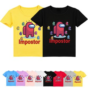2021 New Kawaii Game Among Us T Shirt Kids Summer Cartoon Crewmate Impostor T-shirt Girls Boys Clothing Unisex Short Sleeve Tops