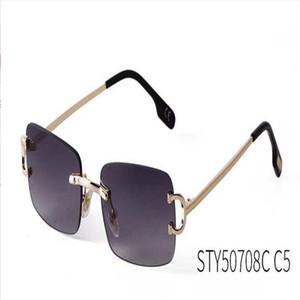 Rimless Pilot Style Sunglasses for Men Women Colorful Choice for Summer Luxury Carter Glasses Super Quality Wholesale Frames erAghAERH