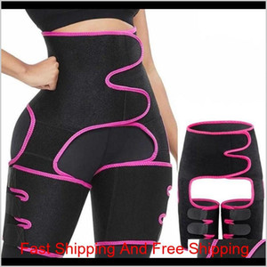 Us Ship Waist Trainer 3-In-1 Thigh Trimmers With Bulifter Body Shaper Arm Belt For Waist Support Sport Workout Sweat Bands X8Jt8 F5Q1N