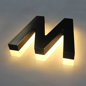 Personalized Handcraft Led Logo Acrylic Warm Light Sign Reverse Lighting Channel Letter for Storefront Corrosion-resistant